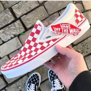 NEW Vans Checkerboard Slip On Sneakers Mens 9.5